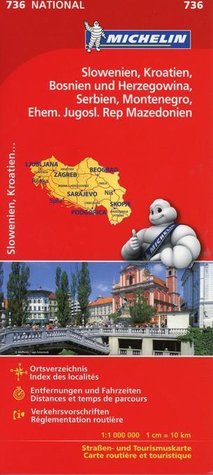 Michelin Slowenien Kroatien Bosnien und Herzego...