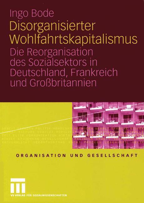 Disorganisierter Wohlfahrtskapitalismus als Buch