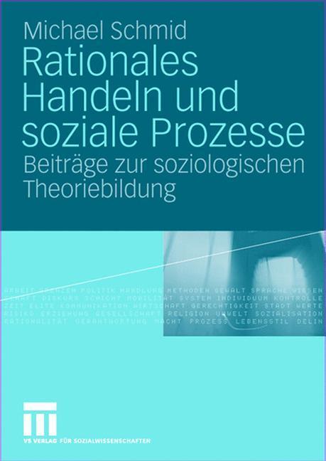 Rationales Handeln und soziale Prozesse als Buch (gebunden)