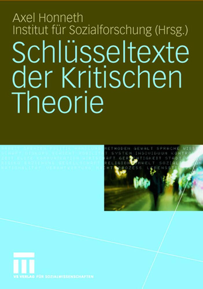 Schlüsseltexte der Kritischen Theorie als Buch