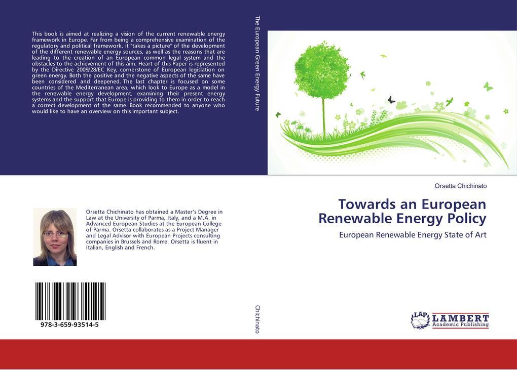 Towards an European Renewable Energy Policy als Buch (gebunden)