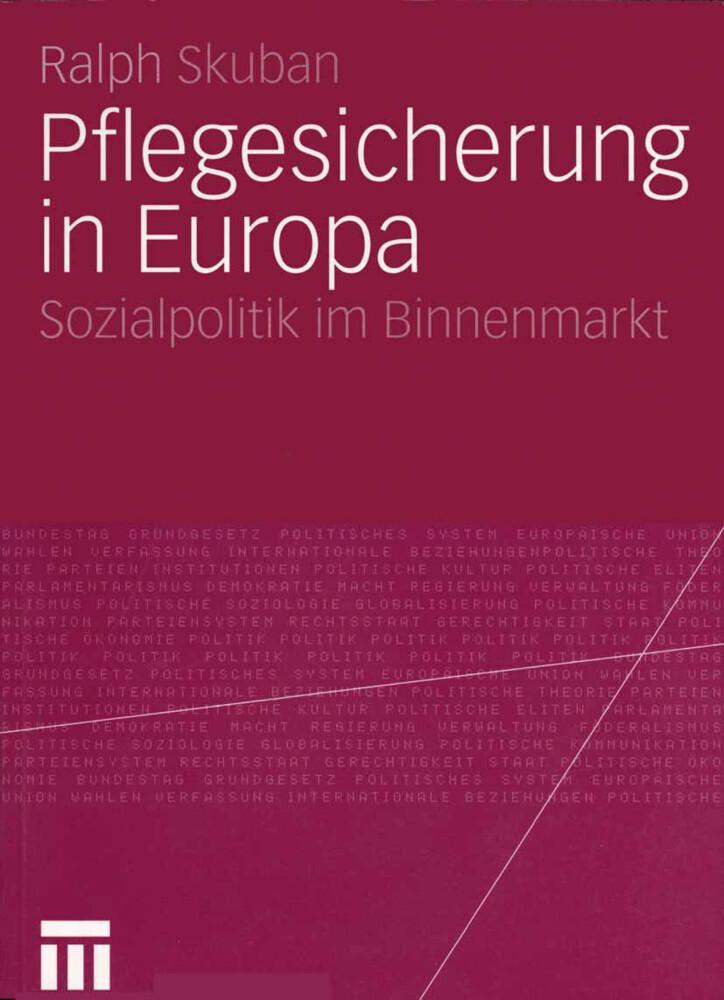 Pflegesicherung in Europa als Buch