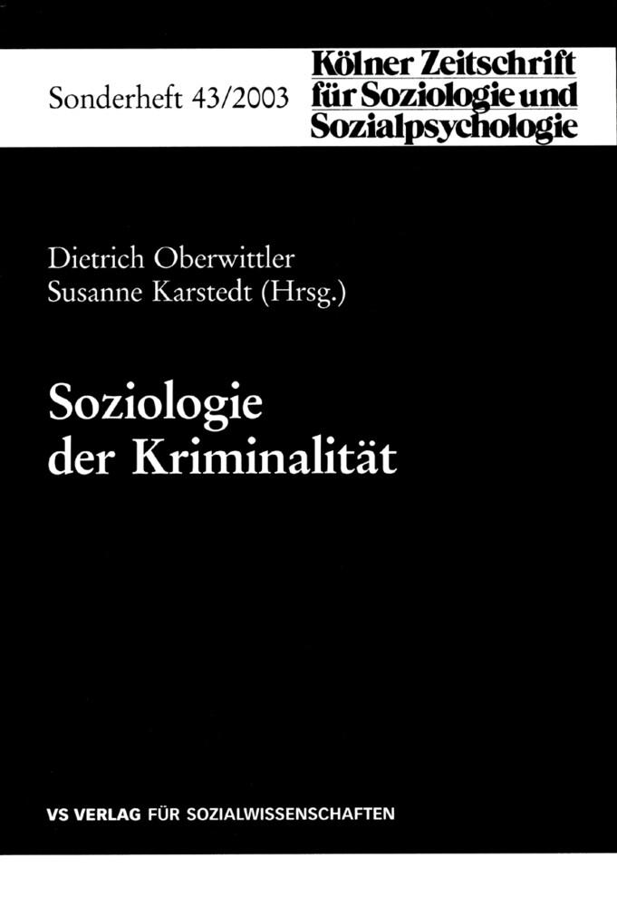 Soziologie der Kriminalität als Buch