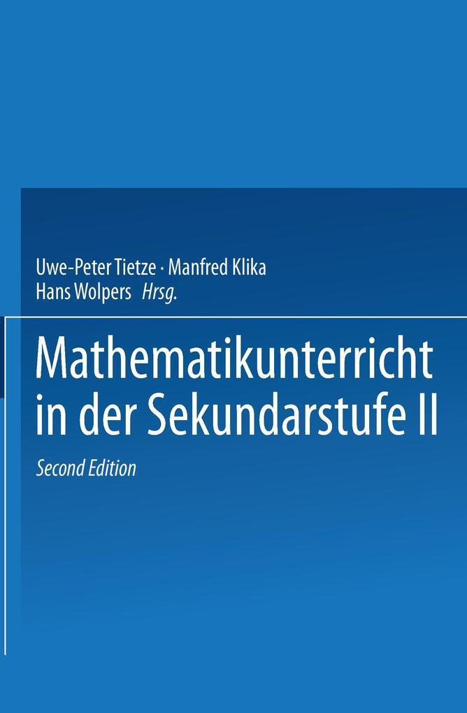 Mathematikunterricht in der Sekundarstufe 2. Bd. 1 als Buch