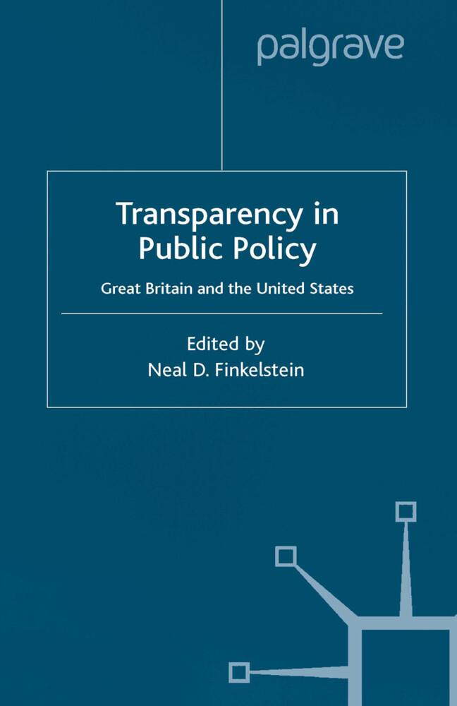 Transparency in Public Policy als Buch (gebunden)