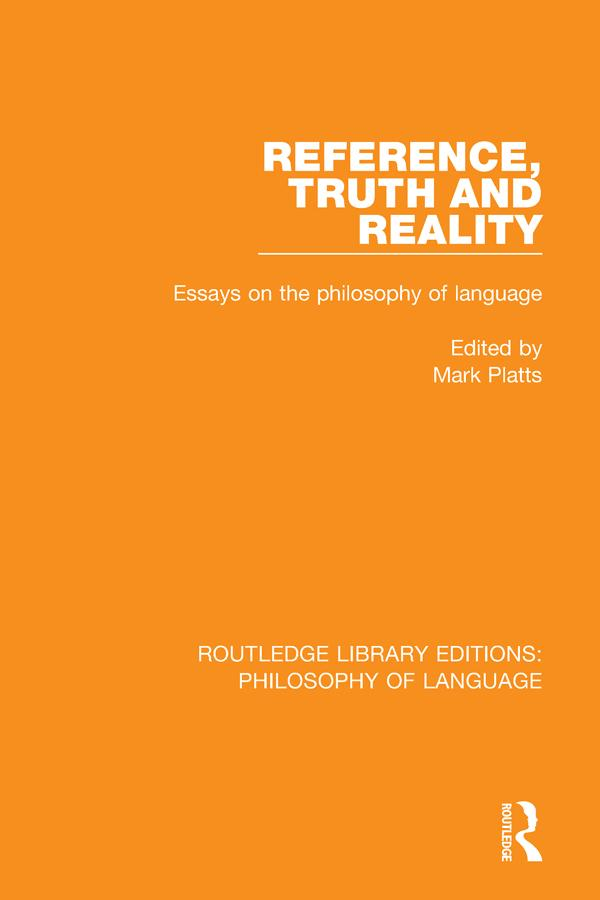 Reference, Truth and Reality als eBook epub