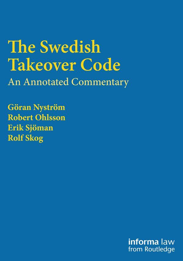 The Swedish Takeover Code als eBook epub