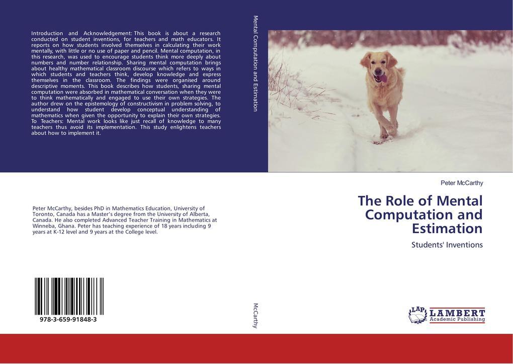 The Role of Mental Computation and Estimation als Buch (gebunden)