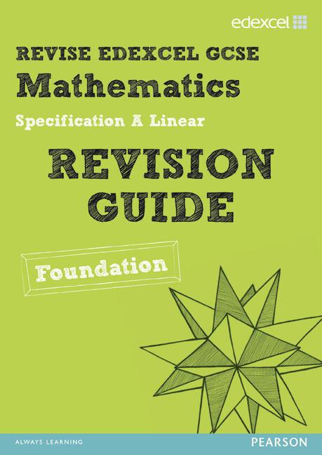 Revise Edexcel GCSE Mathematics Spec A Linear Revision Guide Foundation - Print and Digital Pack als Taschenbuch