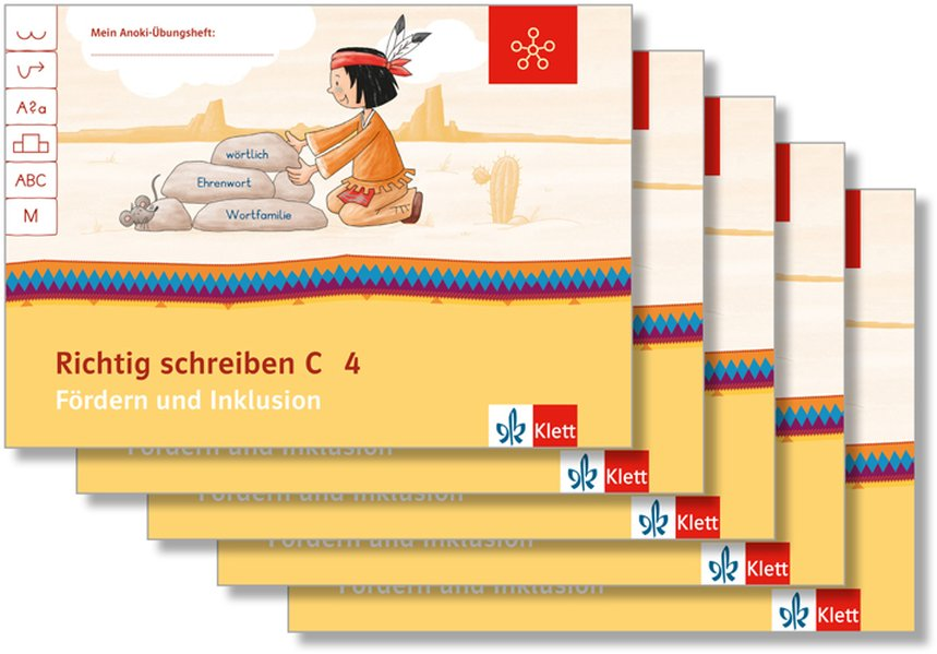 Mein Indianerheft. Richtig schreiben C. Fördern und Inklusion. Arbeitsheft Klasse 4 (5-er Paket) als Buch (geheftet)