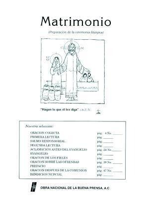 Matrimonio: Preparacion Para La Ceremonia Liturgica = Matrimonio als Taschenbuch