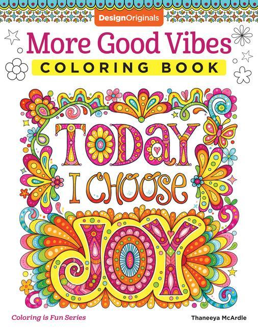 More Good Vibes Coloring Book als Taschenbuch