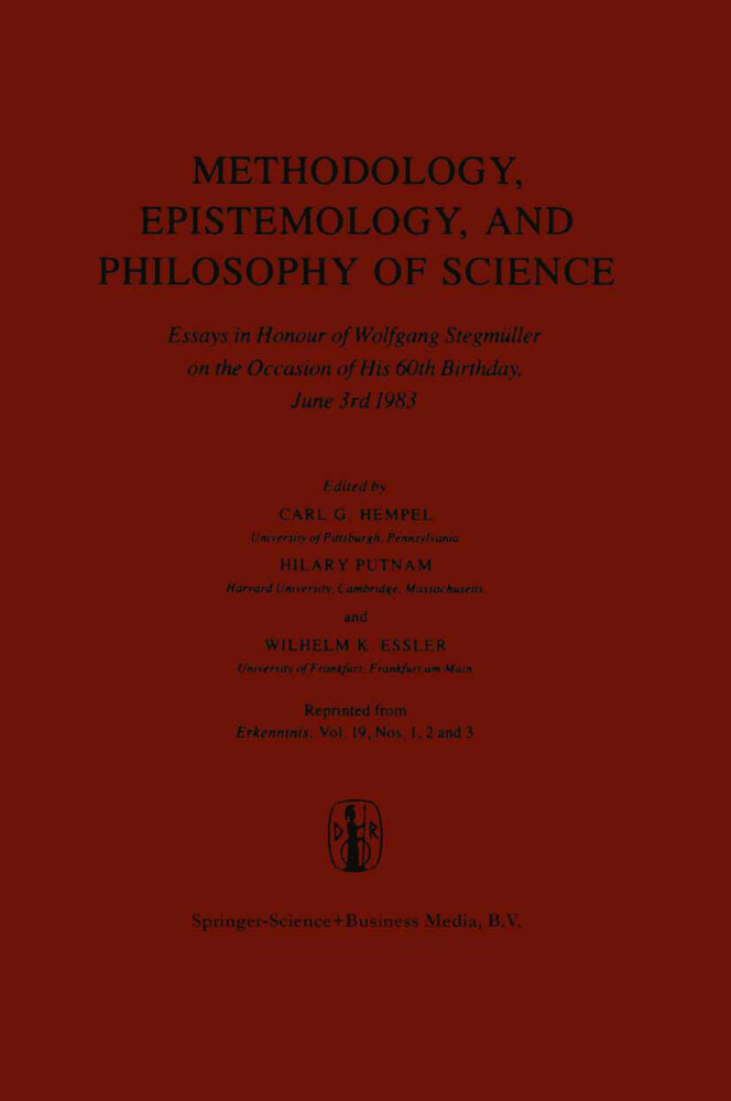 Methodology, Epistemology, and Philosophy of Science als Buch