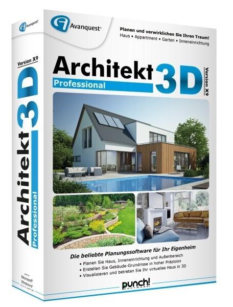 Architekt 3D X9 Professional, 1 DVD-ROM