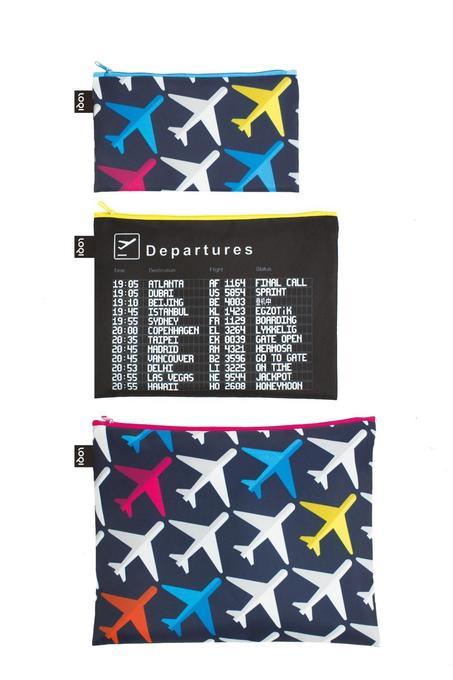 LOQI Zip Pockets AIRPORT Airplane