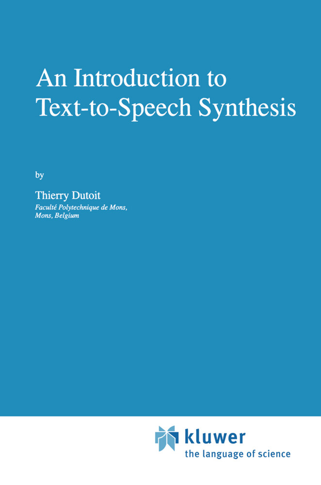An Introduction to Text-to-Speech Synthesis als Buch