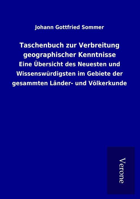 Taschenbuch zur Verbreitung geographischer Kenntnisse als Buch (gebunden)