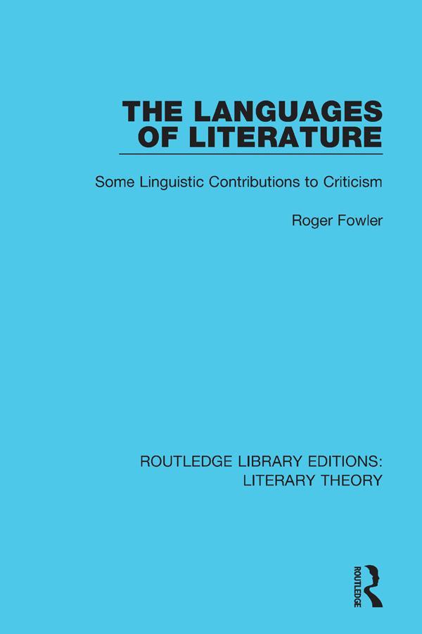 The Languages of Literature als eBook pdf