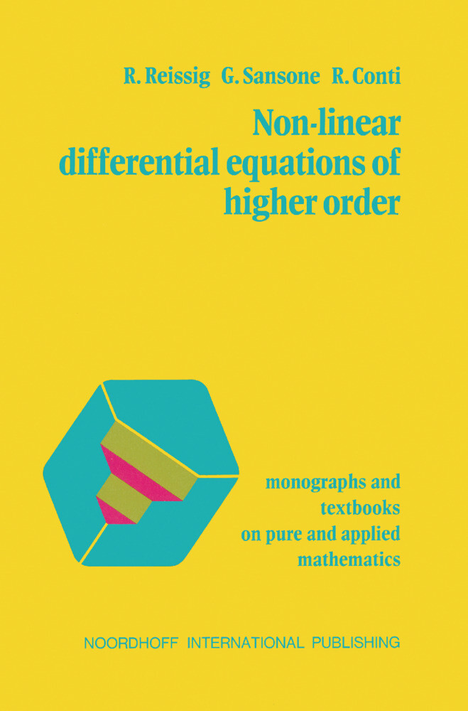 Non-Linear Differential Equations of Higher Order als Buch