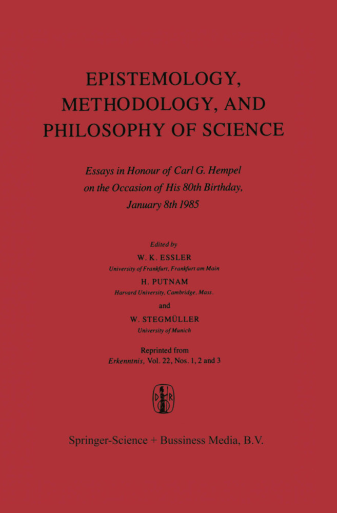 Epistemology, Methodology, and Philosophy of Science als Buch