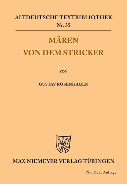 Mären von dem Stricker als Buch von Der Stricke...