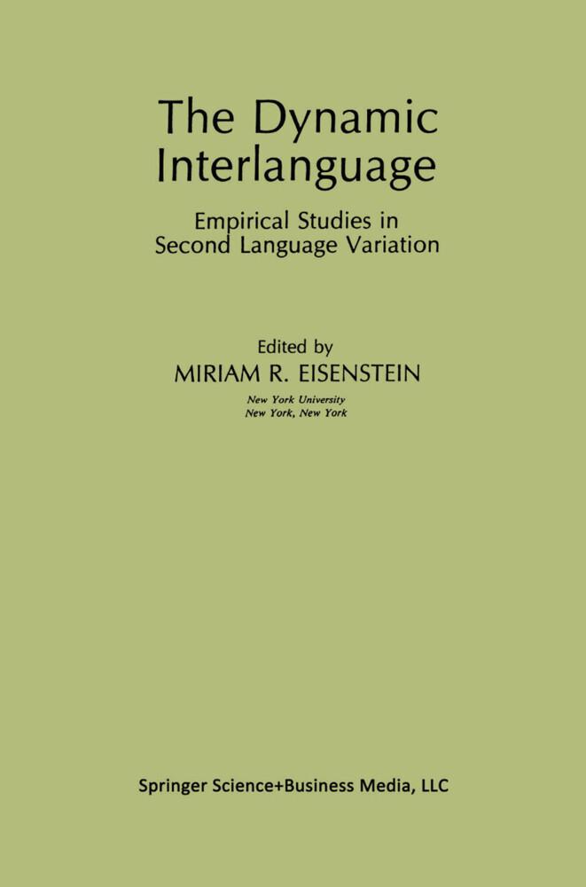 The Dynamic Interlanguage als Buch