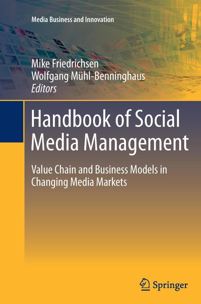 Handbook of Social Media Management als Buch von