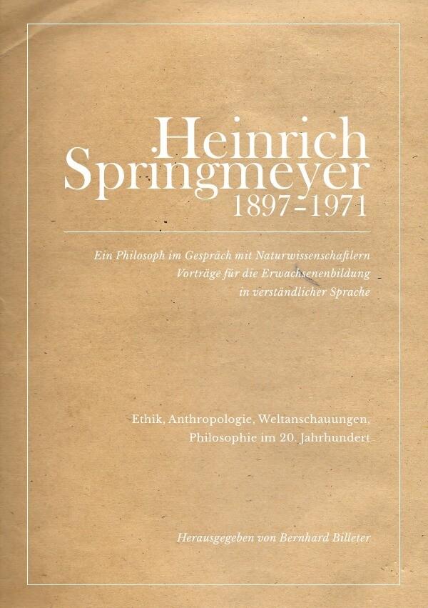 Heinrich Springmeyer 1897-1971 als Buch