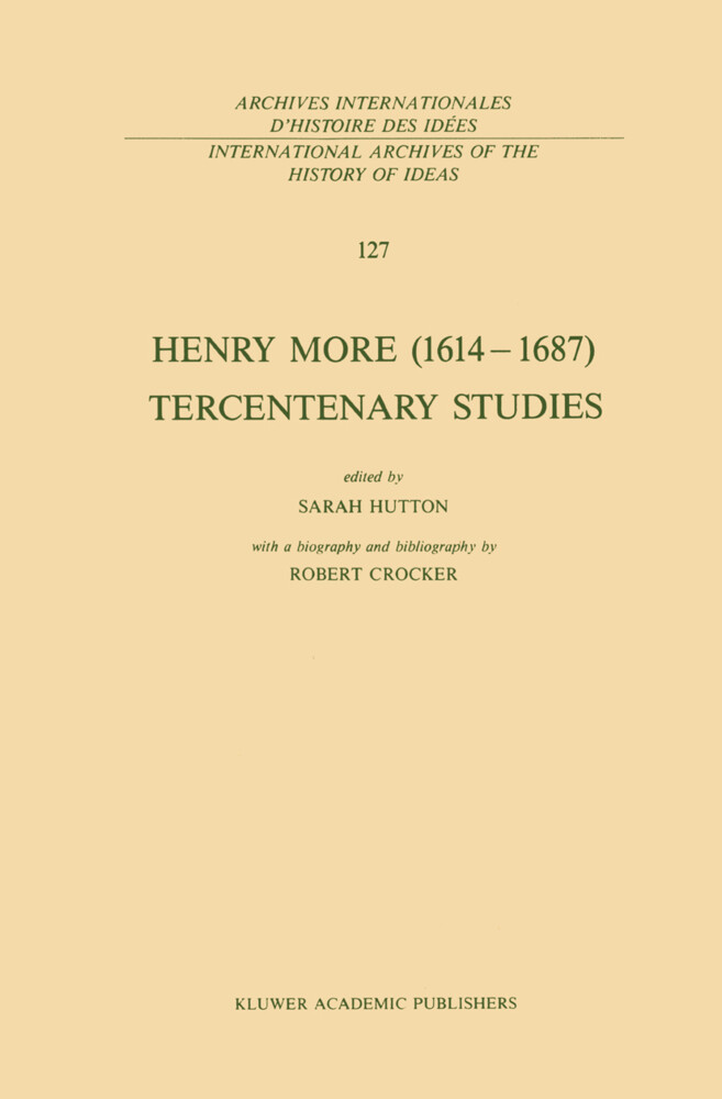 Henry More (1614-1687) Tercentenary Studies als Buch
