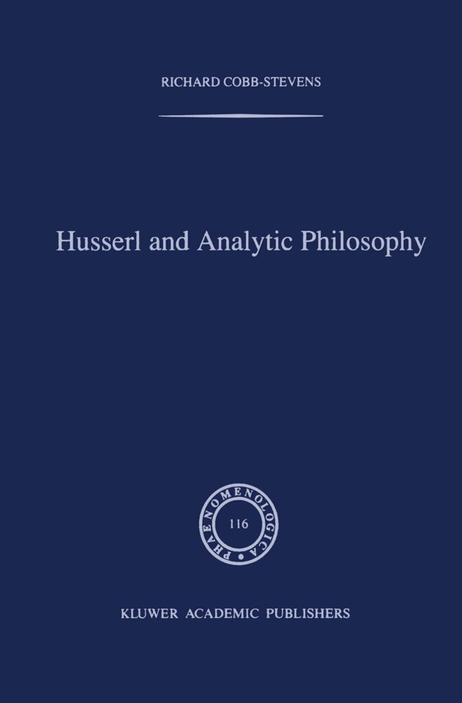 Husserl and Analytic Philosophy als Buch