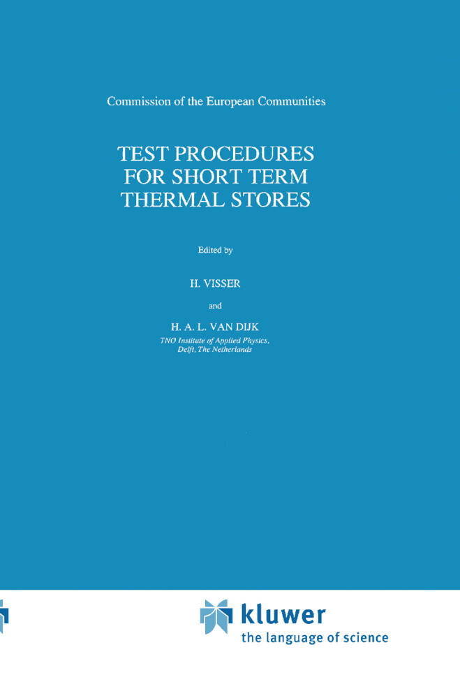 Test Procedures for Short Term Thermal Stores als Buch