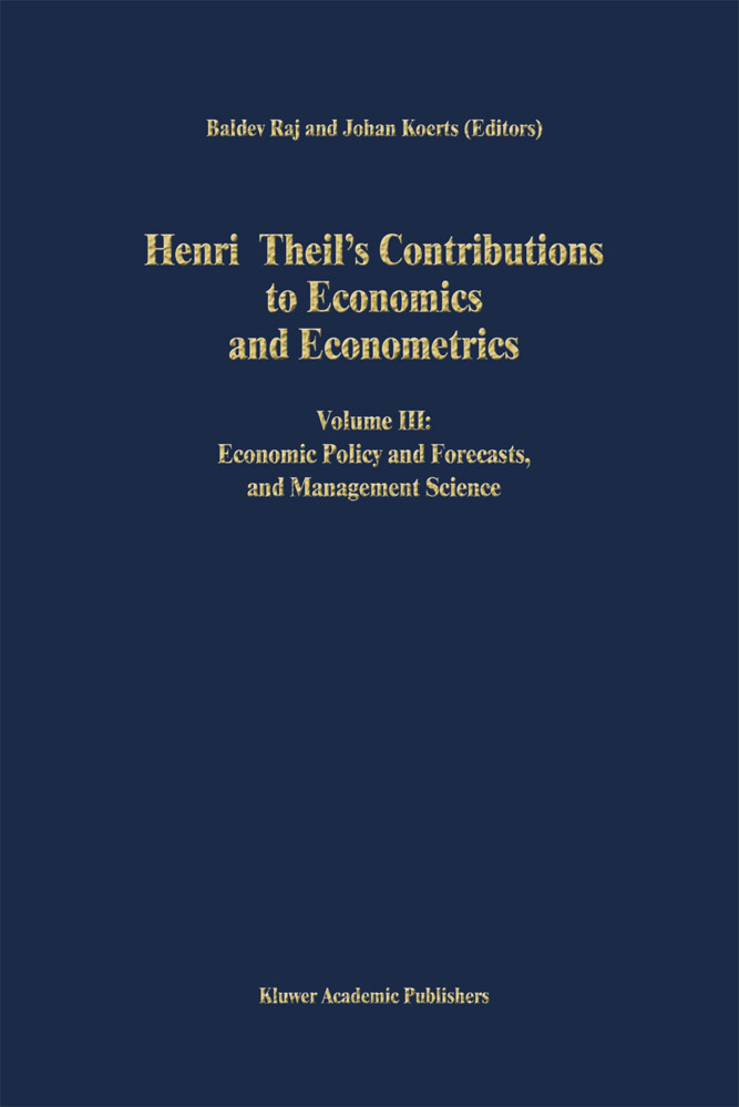 Henri Theil's Contributions to Economics and Econometrics als Buch