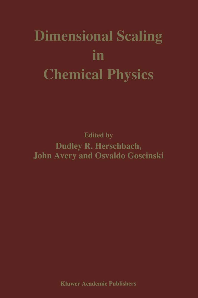 Dimensional Scaling in Chemical Physics als Buch