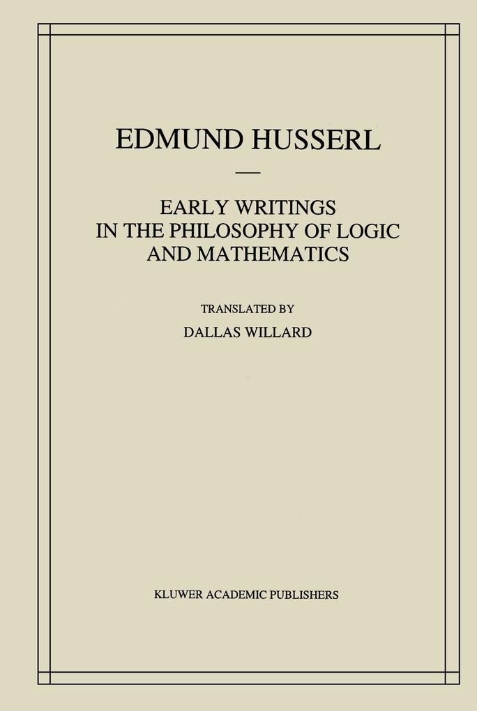 Early Writings in the Philosophy of Logic and Mathematics als Buch