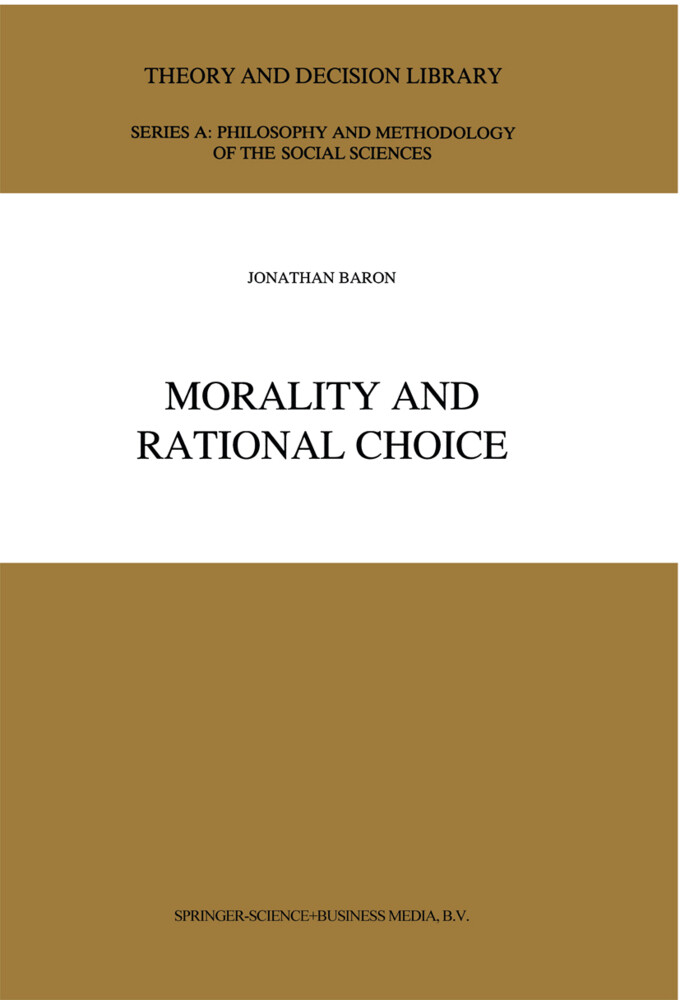 Morality and Rational Choice als Buch