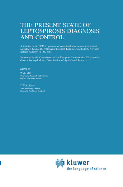The Present State of Leptospirosis Diagnosis and Control als Buch