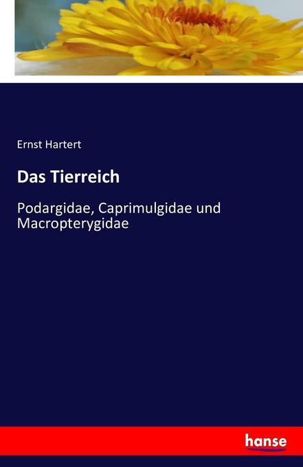 Das Tierreich als Buch von Ernst Hartert