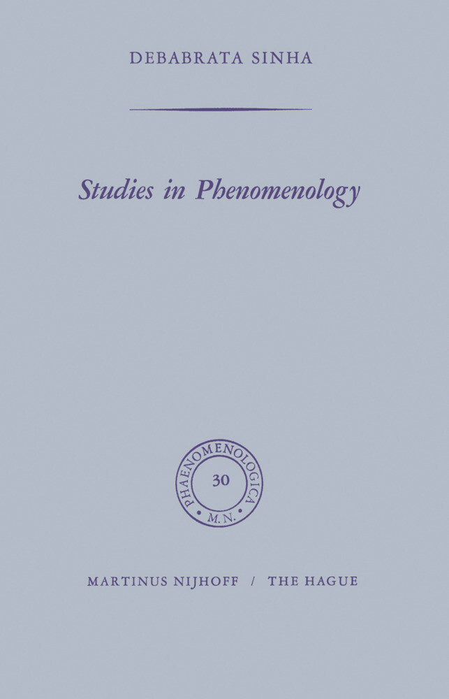 Studies in Phenomenology als Buch