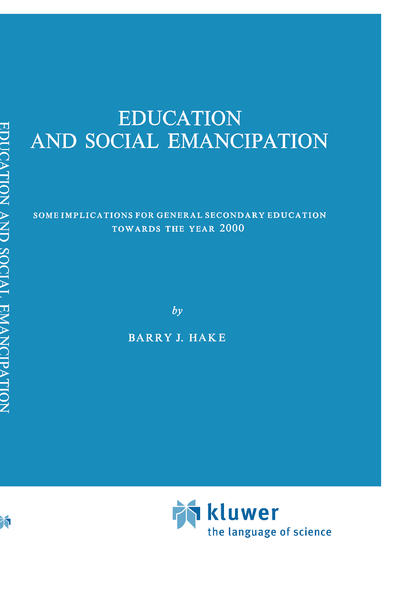 Education and Social Emancipation als Buch