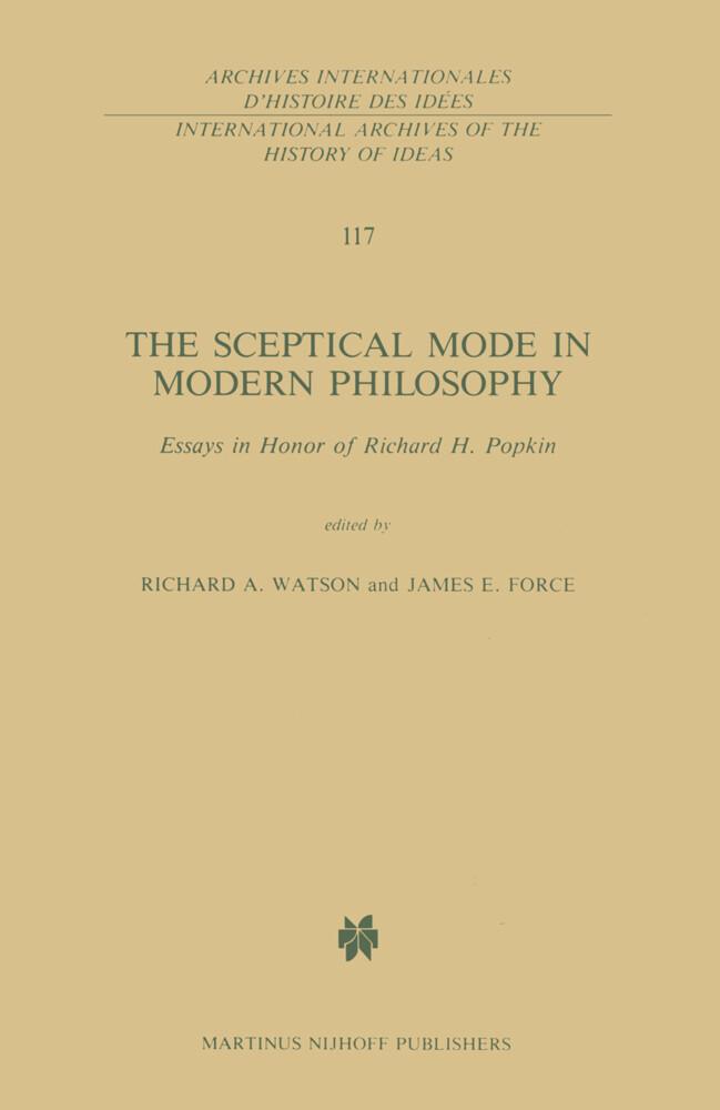 The Sceptical Mode in Modern Philosophy als Buch