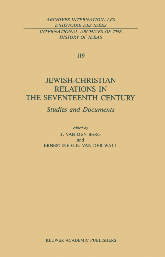 Jewish-Christian Relations in the Seventeenth Century als Buch
