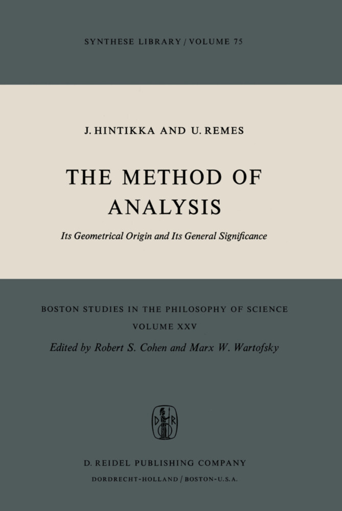 The Method of Analysis als Buch