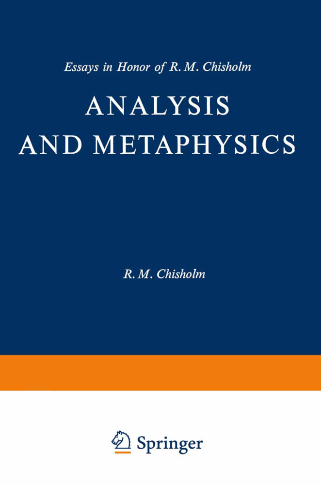 Analysis and Metaphysics als Buch