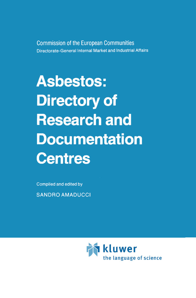Asbestos: Directory of Research and Documentation Centres als Buch