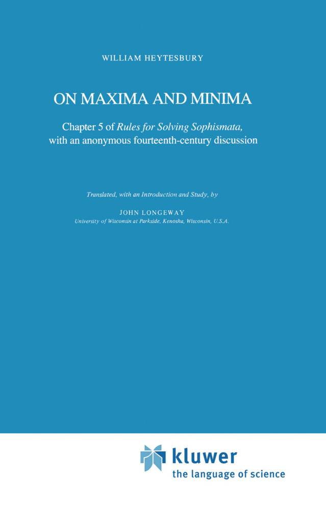 On Maxima and Minima als Buch