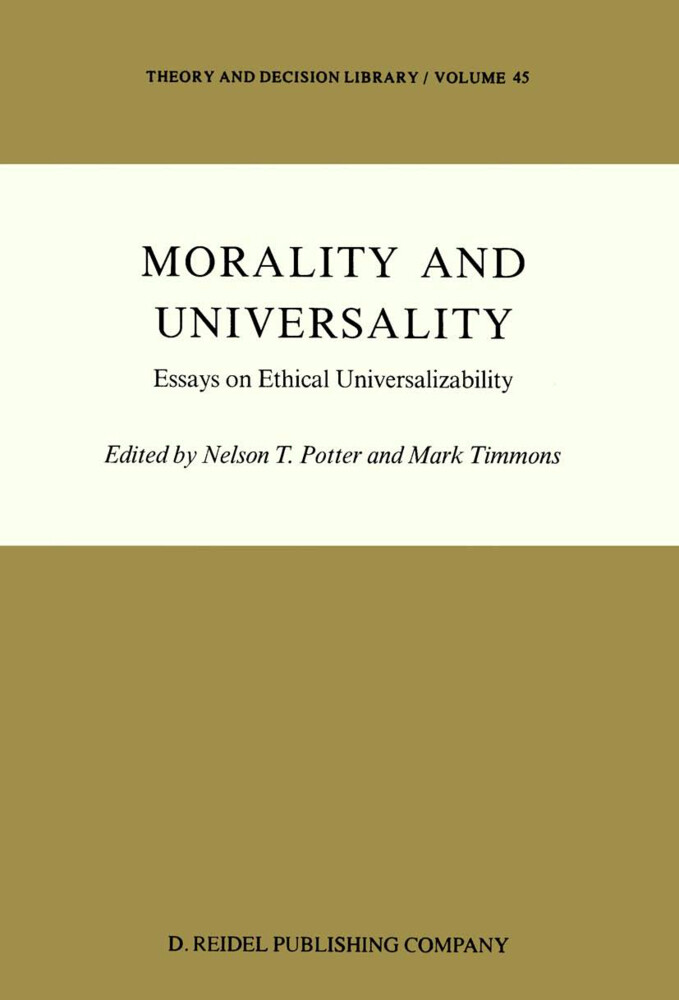 Morality and Universality als Buch