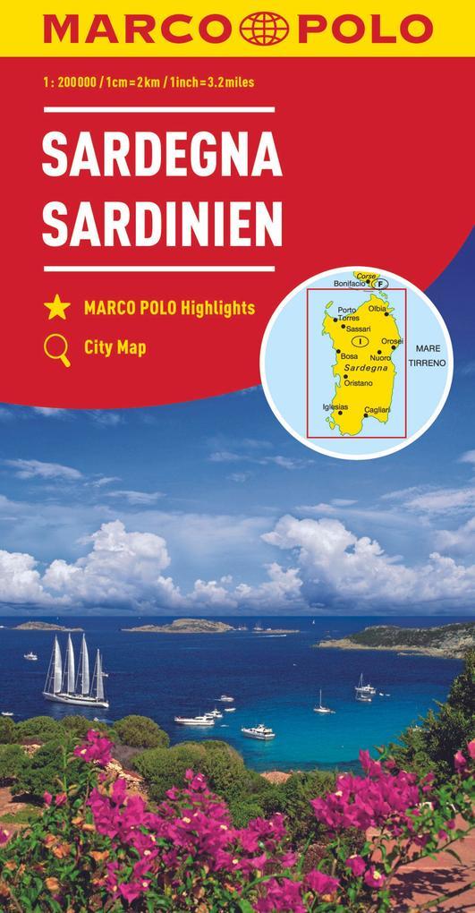 MARCO POLO Karte Sardinien 1:200 000 als Blätter und Karten
