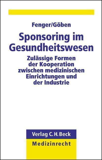Sponsoring im Gesundheitswesen als Buch