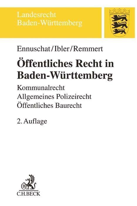 Öffentliches Recht in Baden-Württemberg als Buc...