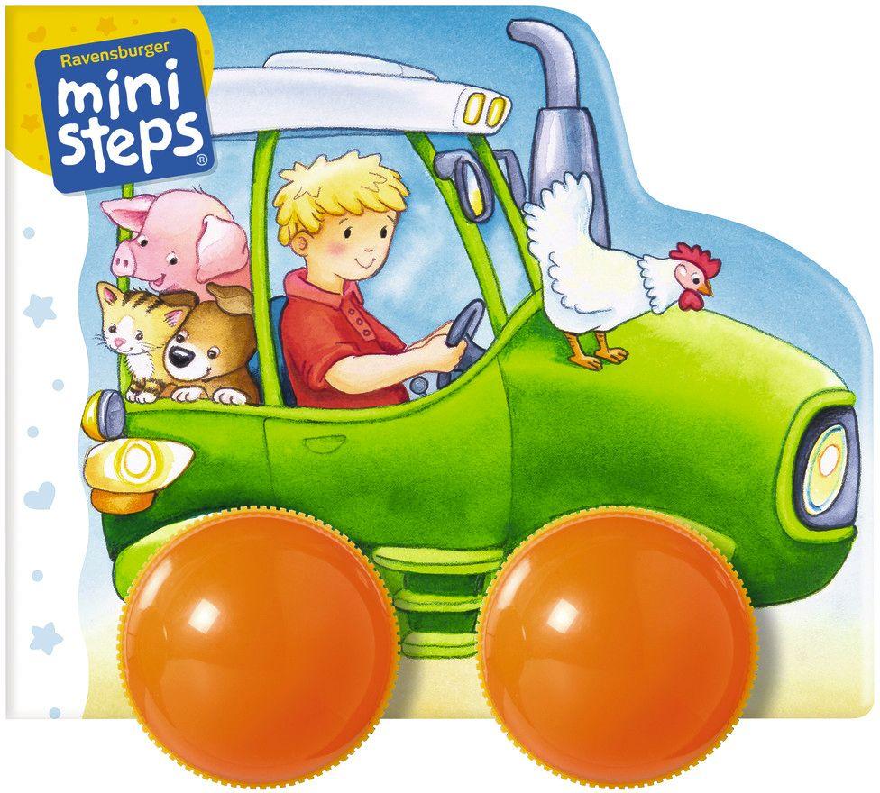 Mein erstes Räder-Rasselbuch: Fahr los, kleiner Traktor! als Buch (kartoniert)